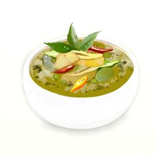 Free Thai Chicken Green Curry Stock Photography - 25466302