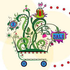 Shopping In Cart Royalty Free Stock Images