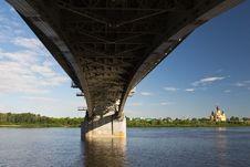 Bridge In Nizhniy Novgorod Royalty Free Stock Photos