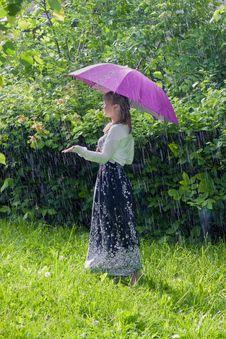 Free Woman With Umbrella Stock Image - 25469381