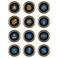 Free Big Set Web Of Icons Royalty Free Stock Image - 25470216