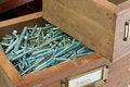 Free Antique Box Of Screws Stock Image - 25471671