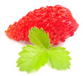 Free Wild Strawberry With Green Leaf Stock Images - 25475924