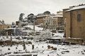 Free Rome, Fori Imperiali Under Snow Royalty Free Stock Images - 25477739