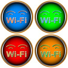 Free Four Wi-Fi Icons Stock Images - 25470214