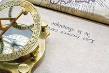 Free A Antique Compass Stock Photography - 25472642