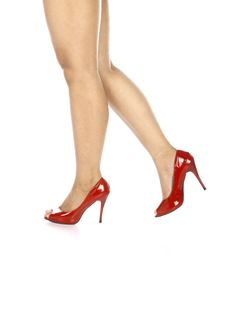 Free Wearing Red Shoes Royalty Free Stock Photo - 25473115
