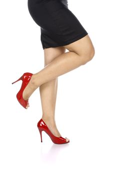 Free Wearing Red Shoes Stock Photo - 25473130