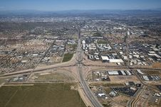 Free Interstate 10 And Loop 202 Interchange Stock Image - 25474151