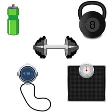Free Fitness Icon Set Stock Image - 25476151