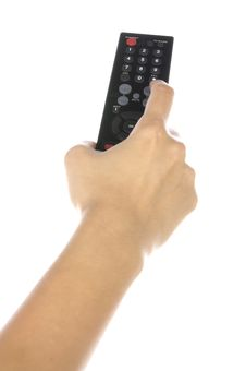 Free Holding Remote Control Royalty Free Stock Photo - 25479785