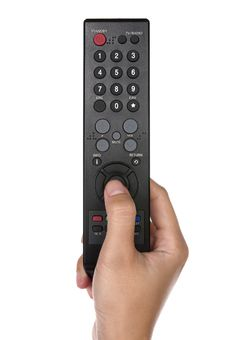 Free Holding Remote Control Stock Photo - 25479800