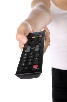 Free Holding Remote Control Stock Images - 25479814