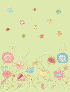 Free Floral Pattern 2 Royalty Free Stock Images - 25479889