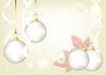 Free Elegant Christmas Silver Background With Baubles Stock Photos - 25486523