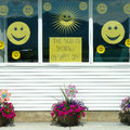 Free Happy Face Yellow Smile Window Royalty Free Stock Photography - 25487927