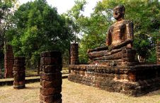 Free Ancient Buddha Statue Stock Image - 25481961