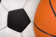 Free Two Sports Balls Royalty Free Stock Photography - 25483787