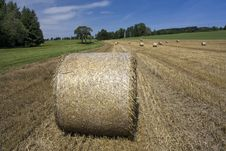 Free Straw Bales Royalty Free Stock Photography - 25485377