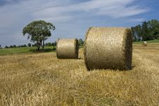 Free Straw Bales Royalty Free Stock Photography - 25485547