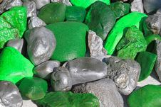 Silver And Green Royalty Free Stock Images