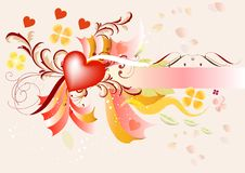 Free Background With Valentines Hearts Royalty Free Stock Image - 25486286
