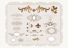 Free Calligraphic Vector Design Elements Set Royalty Free Stock Photos - 25486408