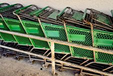 Free Shopping Cart Return Royalty Free Stock Photo - 25487475