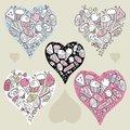 Free Doodle Hearts Stock Photo - 25493070