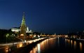 Free Night Moscow And Night Fires Stock Photo - 25495320