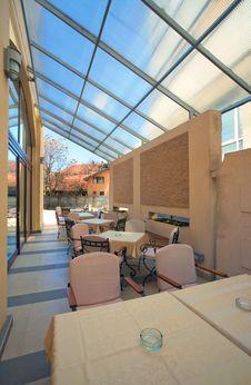Restaurant Balcony Royalty Free Stock Photography