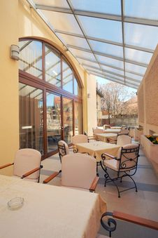 Restaurant Balcony Royalty Free Stock Image