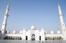 Grand Mosque Of Abu Dhabi Stock Photography