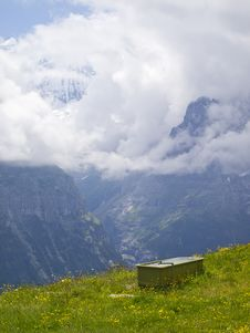 Free Bathtub With A Breathtaking View Of Swiss Alps Royalty Free Stock Photography - 25493677