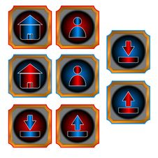 Free Red And Blue Web Buttons Royalty Free Stock Photo - 25494925