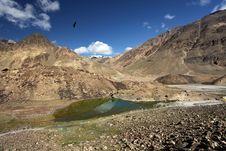 Free Mountain Landscape With Lake. Himalayas Stock Photography - 25495132
