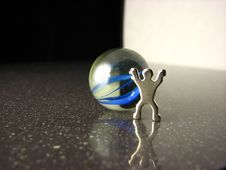 Free Yin And Yang Marble W/ Figure Stock Images - 2554884