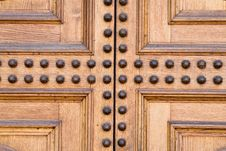 Free Light Wooden Castle Door Stock Image - 2556351