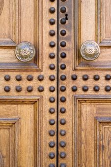 Free Light Wooden Door Royalty Free Stock Images - 2556369
