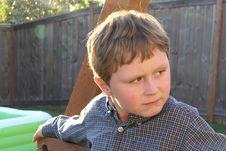 Free Suspicious Boy Stock Photo - 2558740