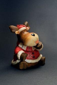Free Santa Raindear Royalty Free Stock Photography - 2559047