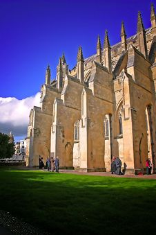 Exeter Cathedral In Summer Royalty Free Stock Images