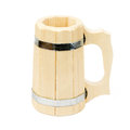 Free Wooden Mug For A Bath Royalty Free Stock Images - 25504229