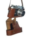 Free Classic Vintage Camera In A Leather Cover Royalty Free Stock Photos - 25505028