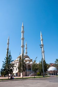 Mosque In The Town Of Manavgat. Turkey. Stock Images