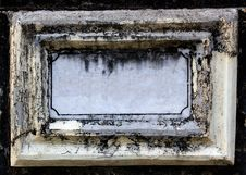 Free Old & Empty Nameboard Made Of Concrete & Marble Stock Photos - 25501673