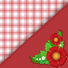 Free Red Checkered Background Stock Images - 25502064