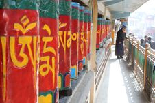 Free Tibetan Buddhist Prayer Wheels Stock Photo - 25502120