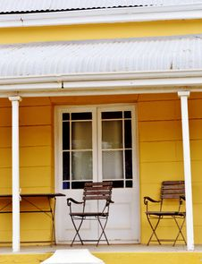 Porch With Garden Chairs Royalty Free Stock Photo