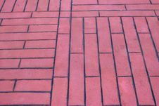 Free Red Brick Floor Stock Photos - 25503023